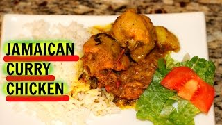 JAMAICAN CURRY CHICKEN RECIPE | The Jamaican Mother