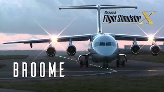 FSX - Quality Wings BAe 146  - Landing at Broome -  TrackIR