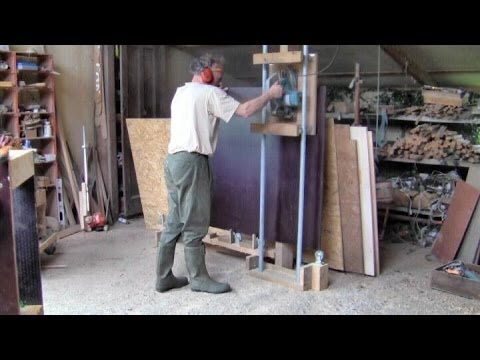 Homemade Panel Saw From Pipes And Castors Every