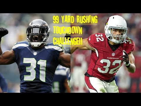 WHO CAN GET A 99 YARD RUSH FIRST?!? KAM CHANCELLOR VS TYRANN MATHIEU!!