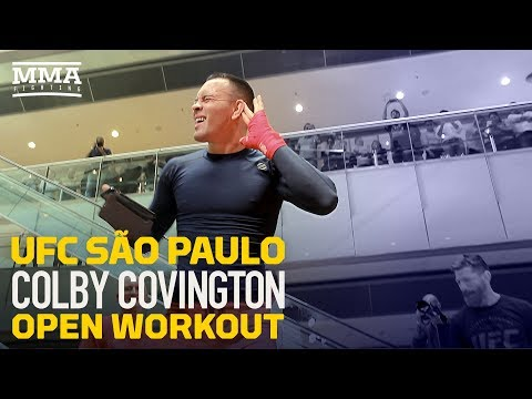 UFC Sao Paulo: Colby Covington Open Workout Highlights  - MMA Fighting