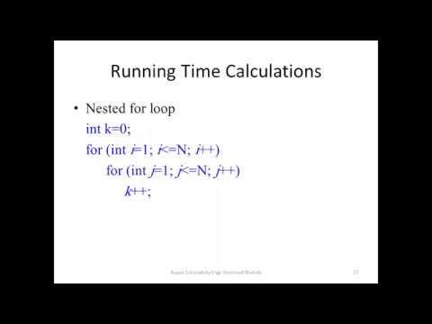 10 (DSA) Examples of Running Time calculation using Big O Notation of Algorithm Analysis Hindi/ Urdu