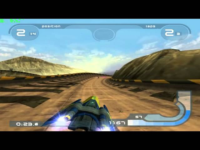 Wipeout Fusion on PCSX2 (0.9.9 SVN)