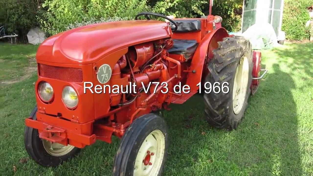 tracteur renault v73 de 1966 youtube. Black Bedroom Furniture Sets. Home Design Ideas