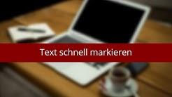 Text schnell markieren in Word
