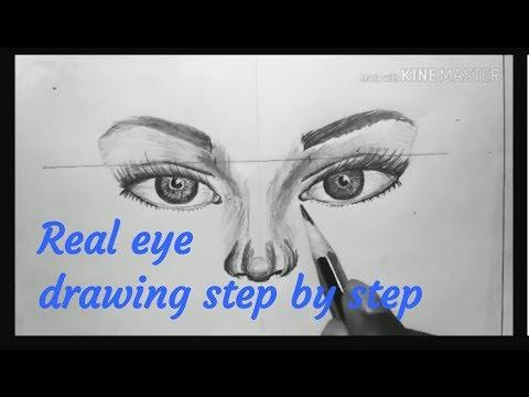 Easy eye sketch tutorial [realistic eye] thumbnail
