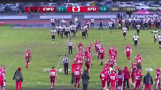 Sfu Football Vs. Cwu - November 16 2018