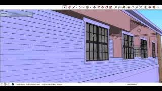 Clapboard in Sketchup