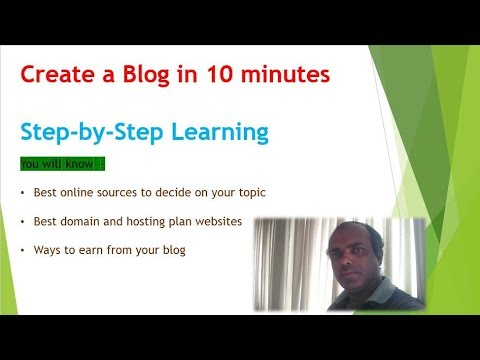 Create a Blog in 10 minutes – Step by step method