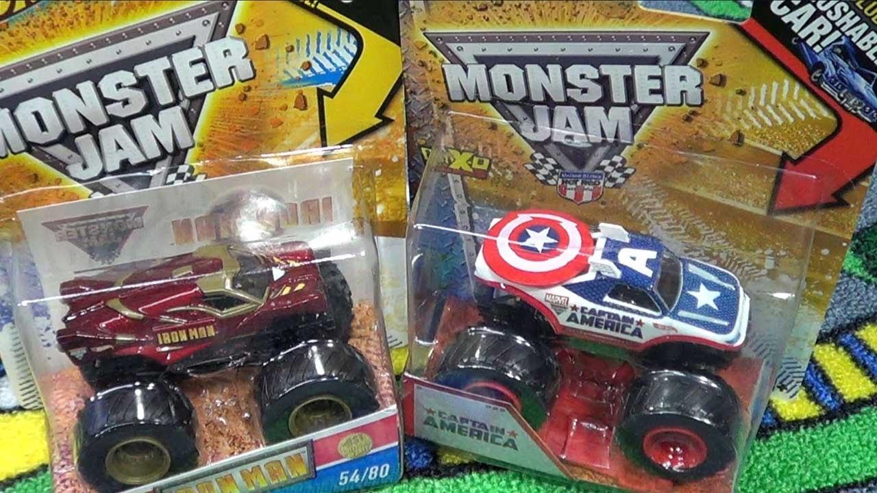 Captain America Iron Man Monster Jam Trucks Youtube