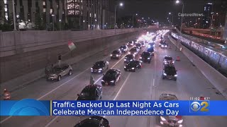 Cars Line Up For Mexican Independence Day