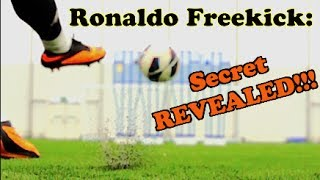 CRISTIANO RONALDO - Knuckle Ball Free Kick Tutorial | The F2
