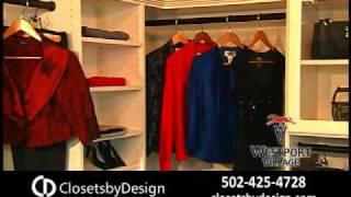 Closets By Design Walk-in Closet In Antique White