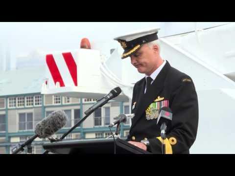 HMAS Darwin Return To Australia
