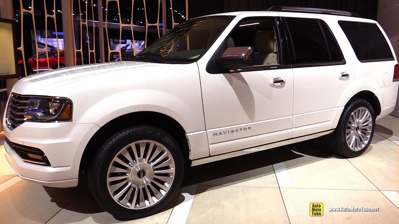2015 lincoln navigator exterior and interior walkaround 2015 detroit auto show youtube