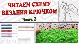 Читаем схему крючком. Как читать схему вязания. Схема вязания крючком. Часть 2. Crochet scheme. P. 2