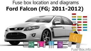 [DIAGRAM_38DE]  Fuse box location and diagrams: Ford Falcon (FG; 2011-2012) - YouTube | Ford Xr6 Fuse Box Diagram |  | YouTube