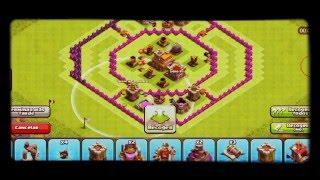 Clash of clans.!! Diseño de aldea th7 con forma donut