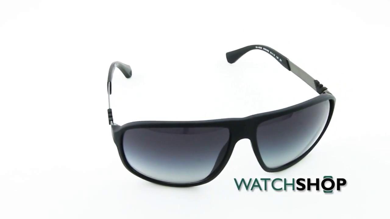 25bb86ad0cb Emporio Armani Men s EA4029 Sunglasses (EA4029-50638G-64) - YouTube