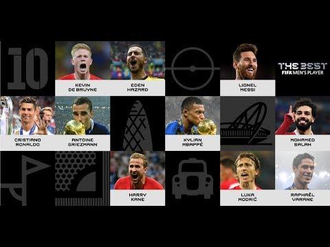 फीफा प्लेयर ऑफ द ईयर के लिए दस खिलाडी़ हुए नामांकित, 8 नंबर खिलाडी़ है सबसे प्रबल दावेदार