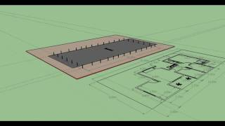 como fazer o Gabarito de uma casa no terreno parte 1