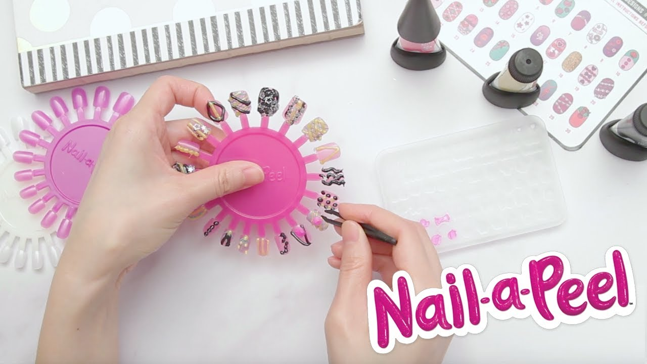 Nail-a-Peel | Product Demo | Design Your Own 3D Nail Art - YouTube