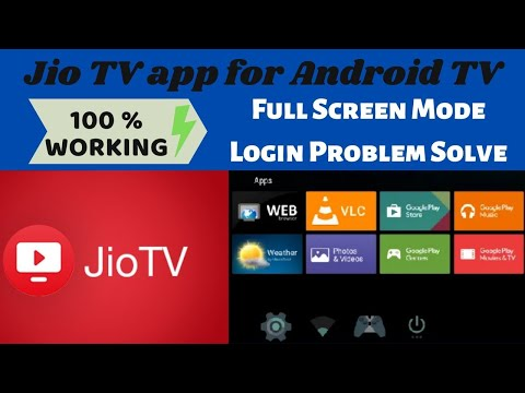 How To Install Jio TV On Smart TV   JioTV App For Android TV   Full Screen & Login Problem Solve