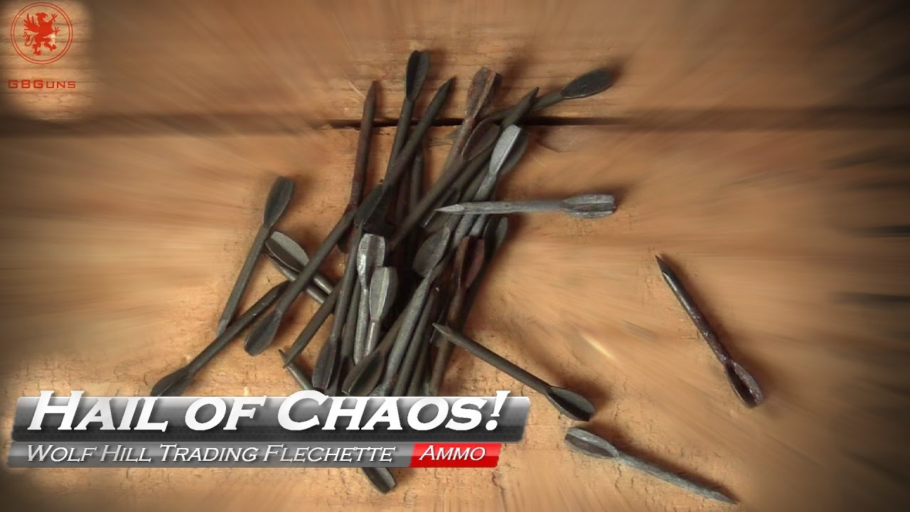 Flechette hail of chaos: 12ga flechette round from wolf hill trading - youtube