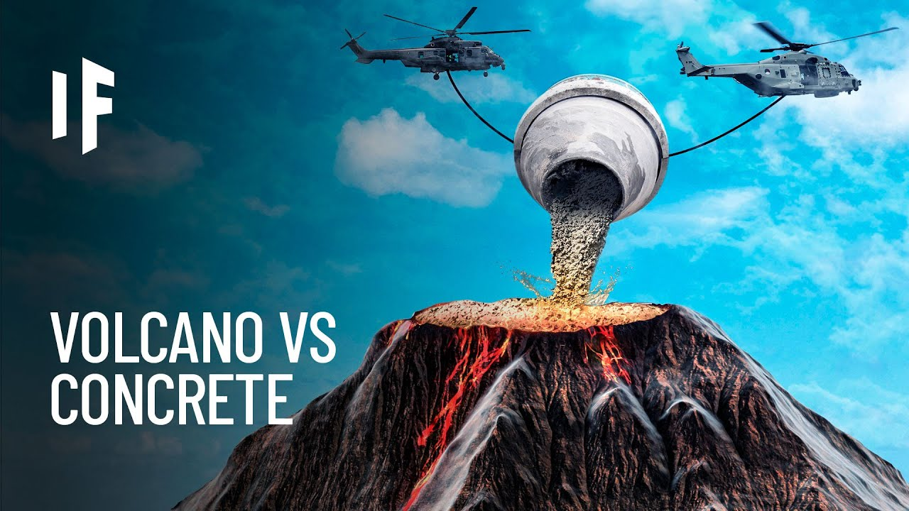 What If We Poured Concrete Into a Volcano?