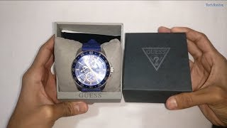 Guess (W0798G2) Wrist Watch Unboxing and Detail Review