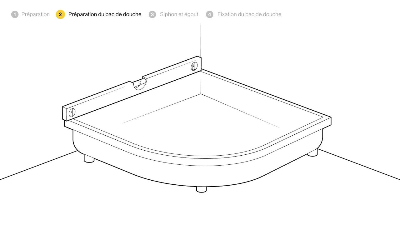 poser un bac de douche haut etape par tape bricolage youtube. Black Bedroom Furniture Sets. Home Design Ideas
