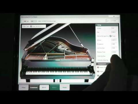 Kronos Music Workstation - SGX-1 Premium Piano - In The Studio with Korg