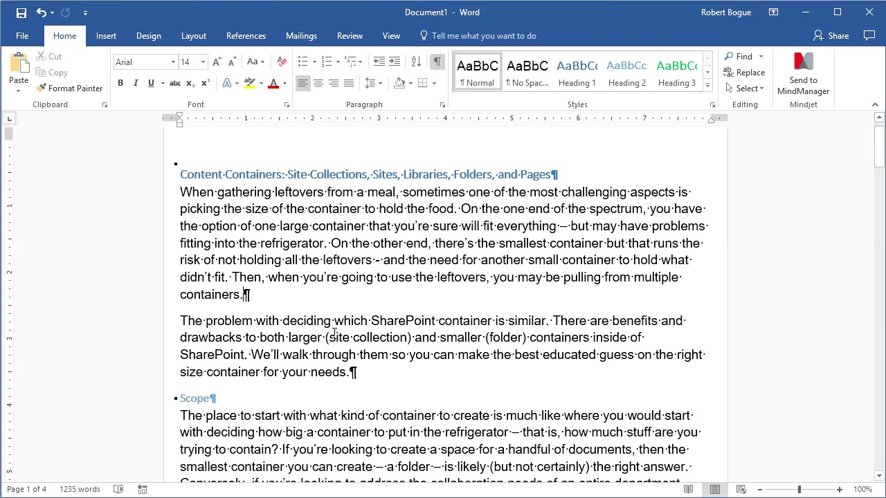 Quick Tip Microsoft Word Paragraph Markers Youtube