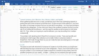 Quick Tip: Microsoft Word: Paraġraph Markers