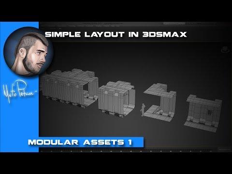 Modular Assets: Spaceship Hallway - Part one: Layout in #3dsMax