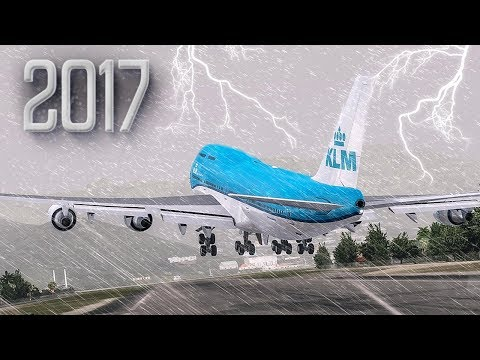 Scary Takeoff with a Hurricane | New Flight Simulator 2017 [P3D 4.0 - Amazing Realism]