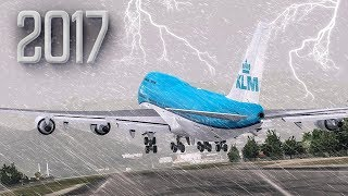 Download lagu Scary Takeoff with a Hurricane New Flight Simulator 2017 MP3