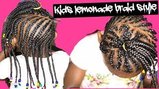 HOW TO: lemonade braid style for kids kids hairstyle black girls hair kids lemonade braid lemonade