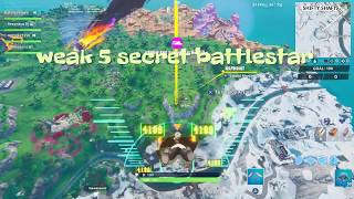Fortnite weak 6 secret battlestar location