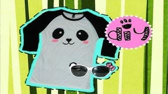 DIY| Easy Panda T-Shirt and Sunglasses