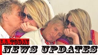 Sir Rod Stewart and Penny Lancaster enjoy romantic lunch in Rome.!!