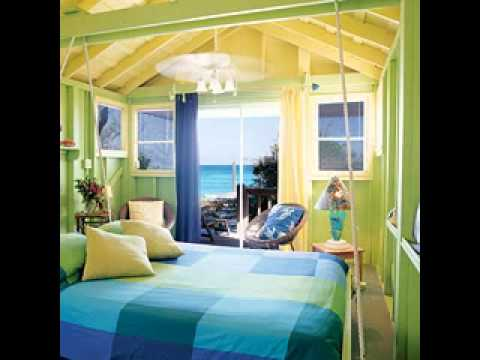 Tropical themed bedroom design ideas - YouTube