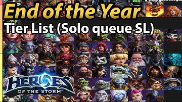 Solo Queue Easy to Carry in Storm League End of the Year Tier List! *Corrected*