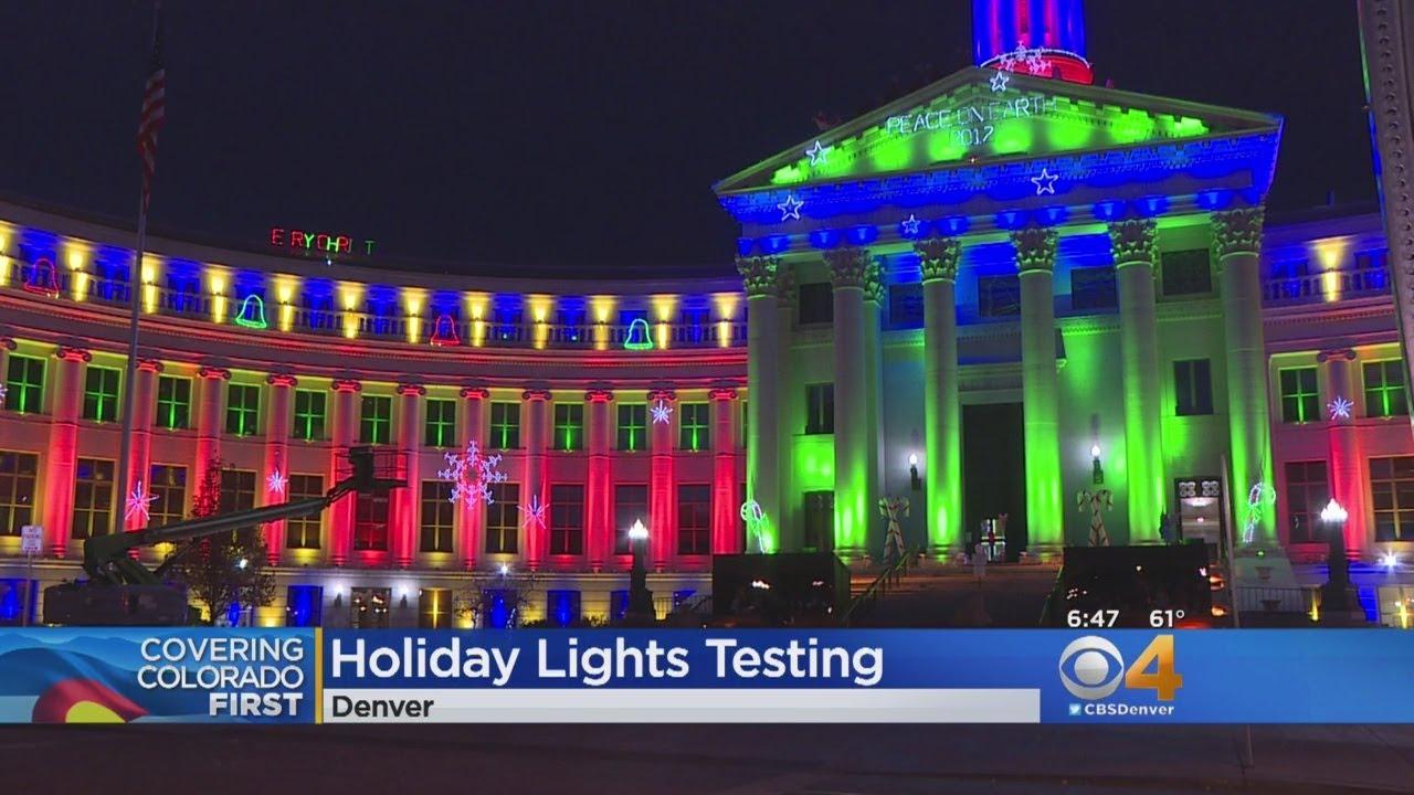 Watch Holiday Lights Sneak Peek In Downtown Denver