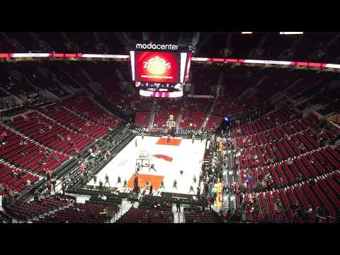 Moda Center Portland, Oregon.  Haifa, Israel vs. Portland Trail Blazers October 13, 2017