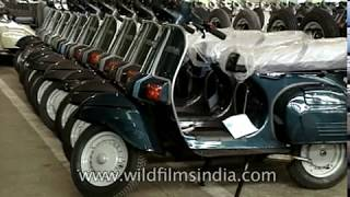Bajaj Chetak scooter factory in India - two wheelers for the masses -archival-