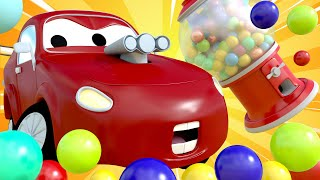 Car Patrol -  The Strange New Car Stole The Candy Machine! - Car City ! Police Cars and fire Trucks