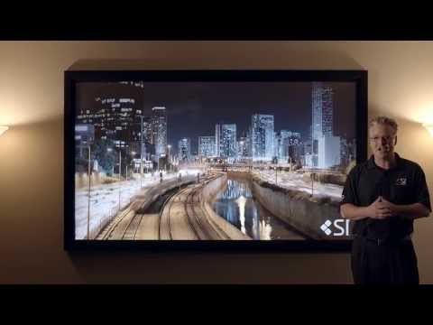 BenQ W1070 on the Fixed Frame Black Diamond Screen