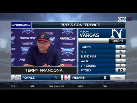 Indians streak ends at 22: Terry Francona thanks the fans, feels Indians are in good spot