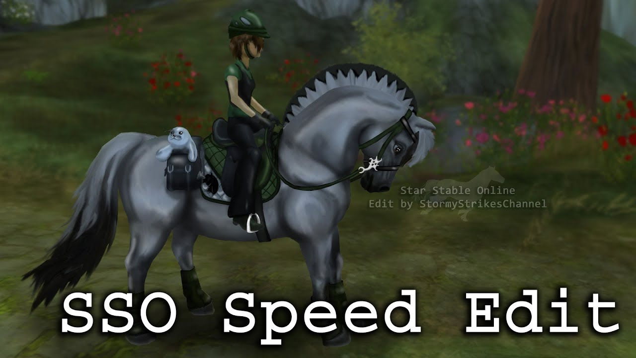 Star Stable Speed Edit ~ Fjord with Green Tack